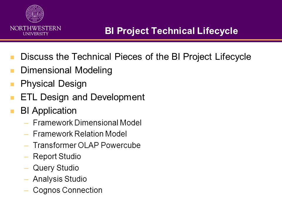 BI Project Technical Lifecycle