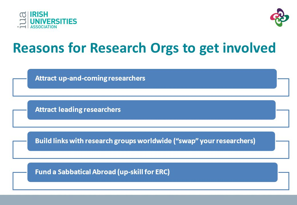 Reasons for Research Orgs to get involved