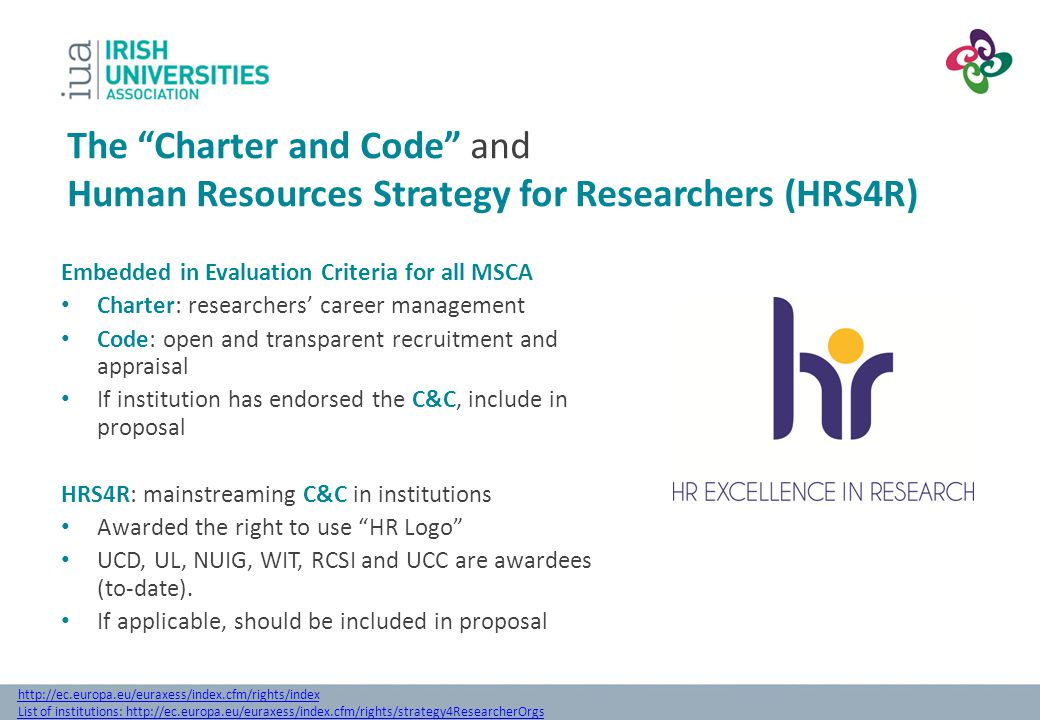 The Charter and Code and Human Resources Strategy for Researchers (HRS4R)