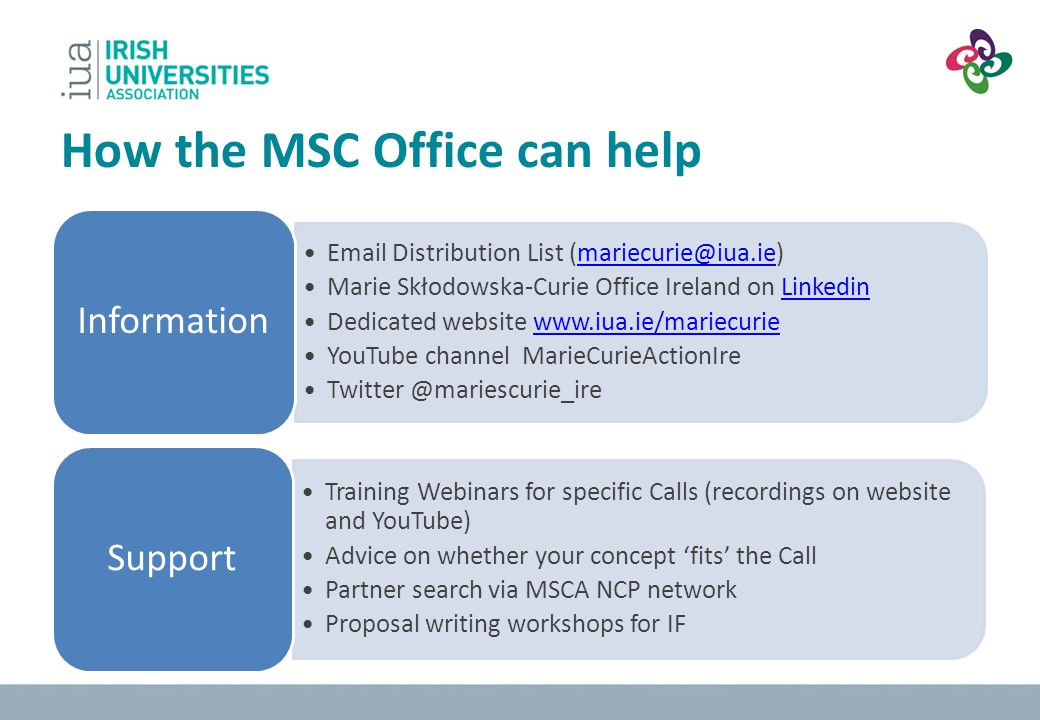 How the MSC Office can help