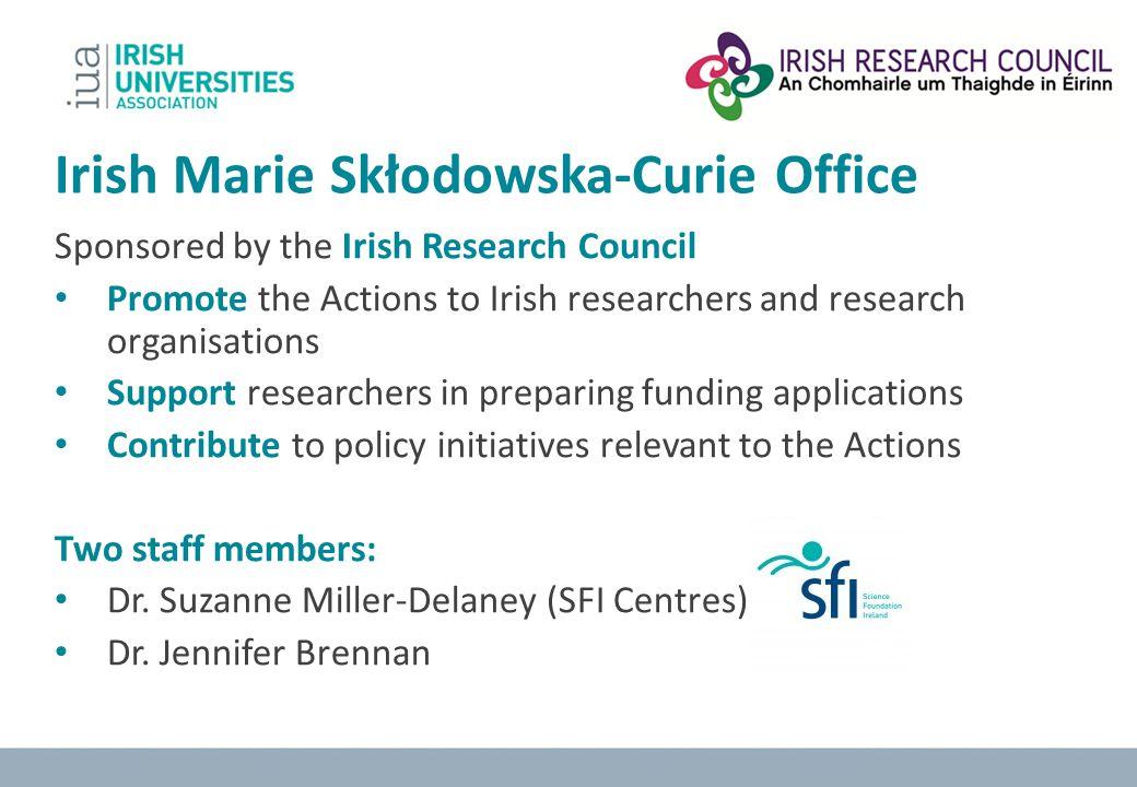 Irish Marie Skłodowska-Curie Office