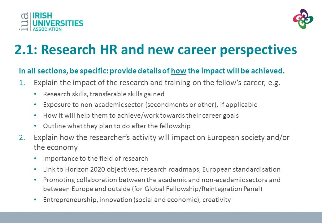 2.1: Research HR and new career perspectives
