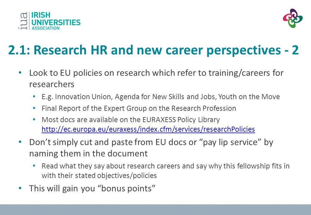2.1: Research HR and new career perspectives - 2