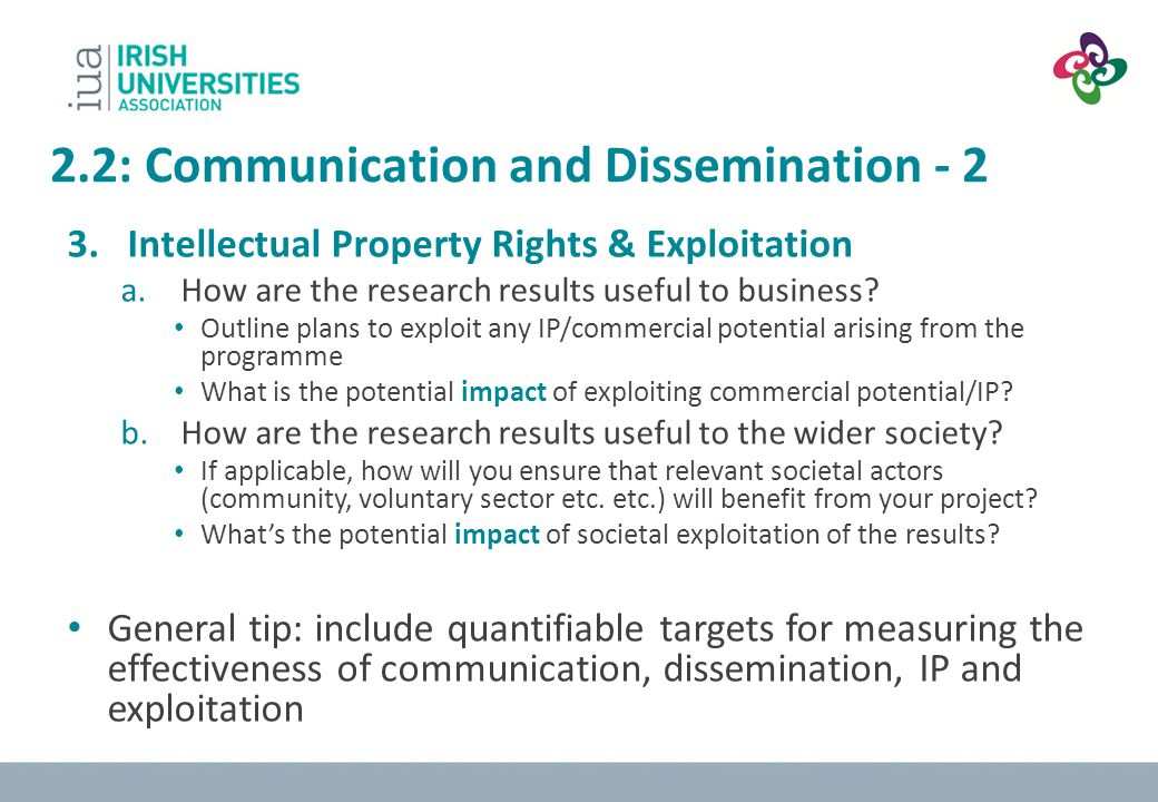 2.2: Communication and Dissemination - 2