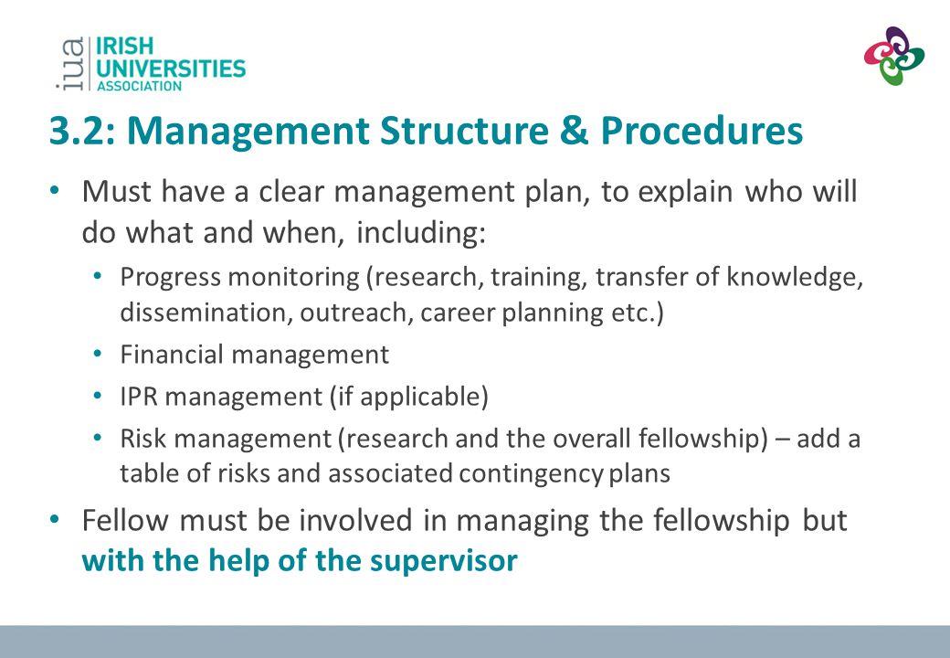 3.2: Management Structure & Procedures