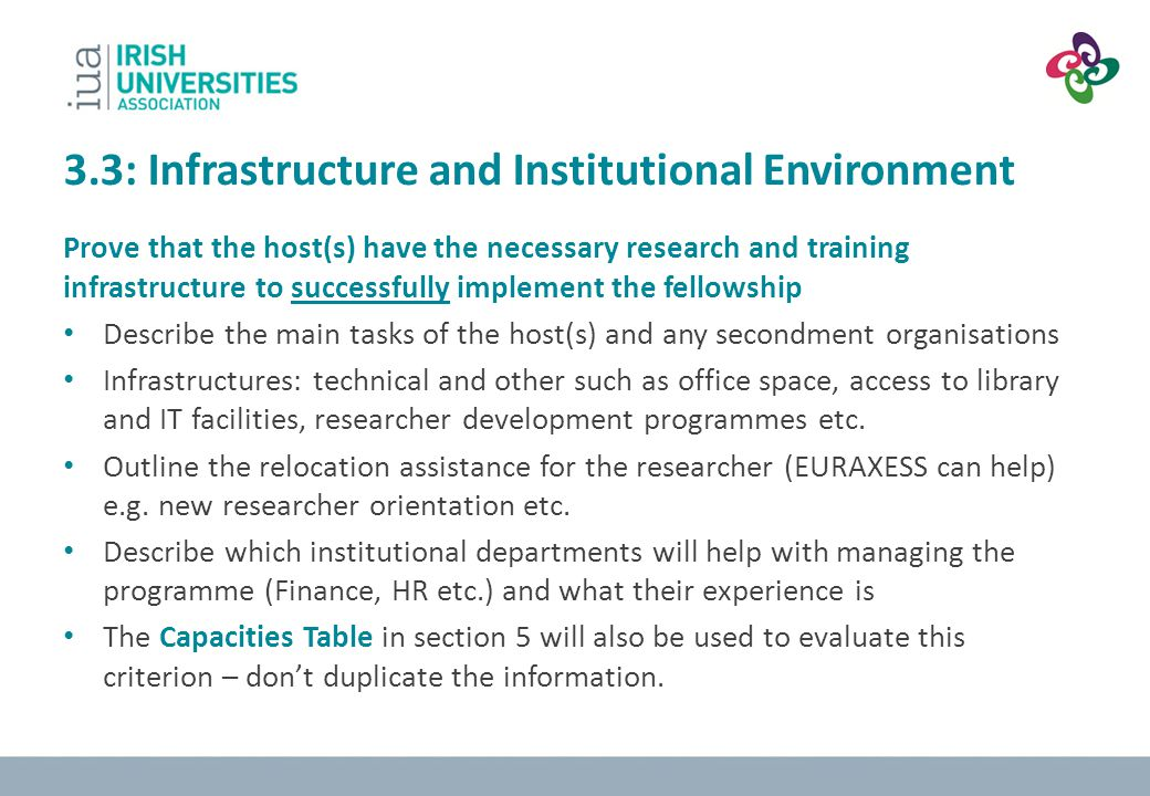 3.3: Infrastructure and Institutional Environment