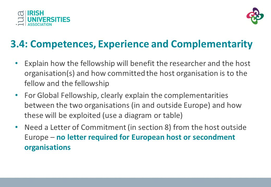 3.4: Competences, Experience and Complementarity