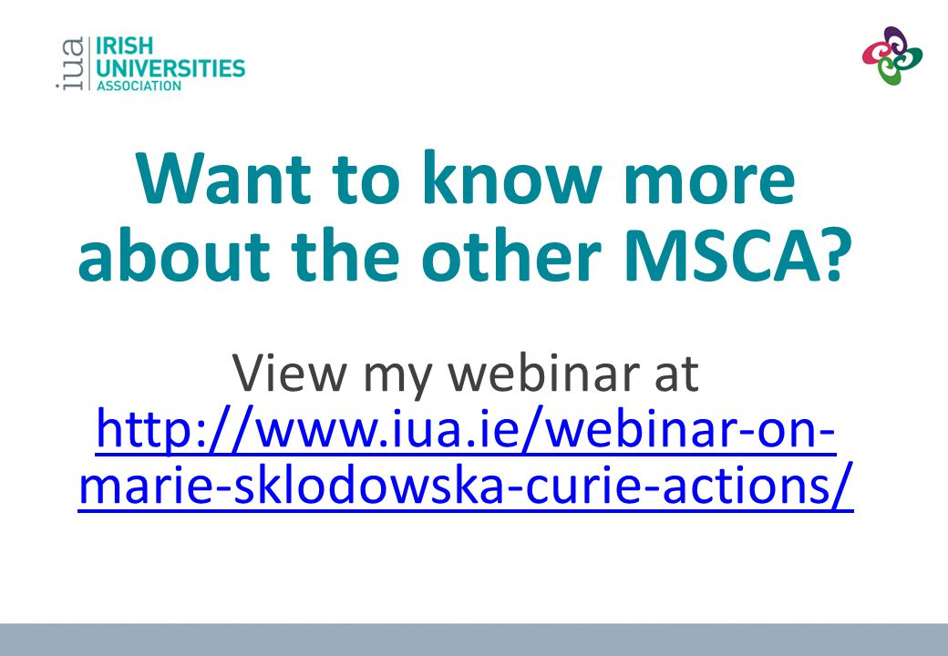 Want to know more about the other MSCA
