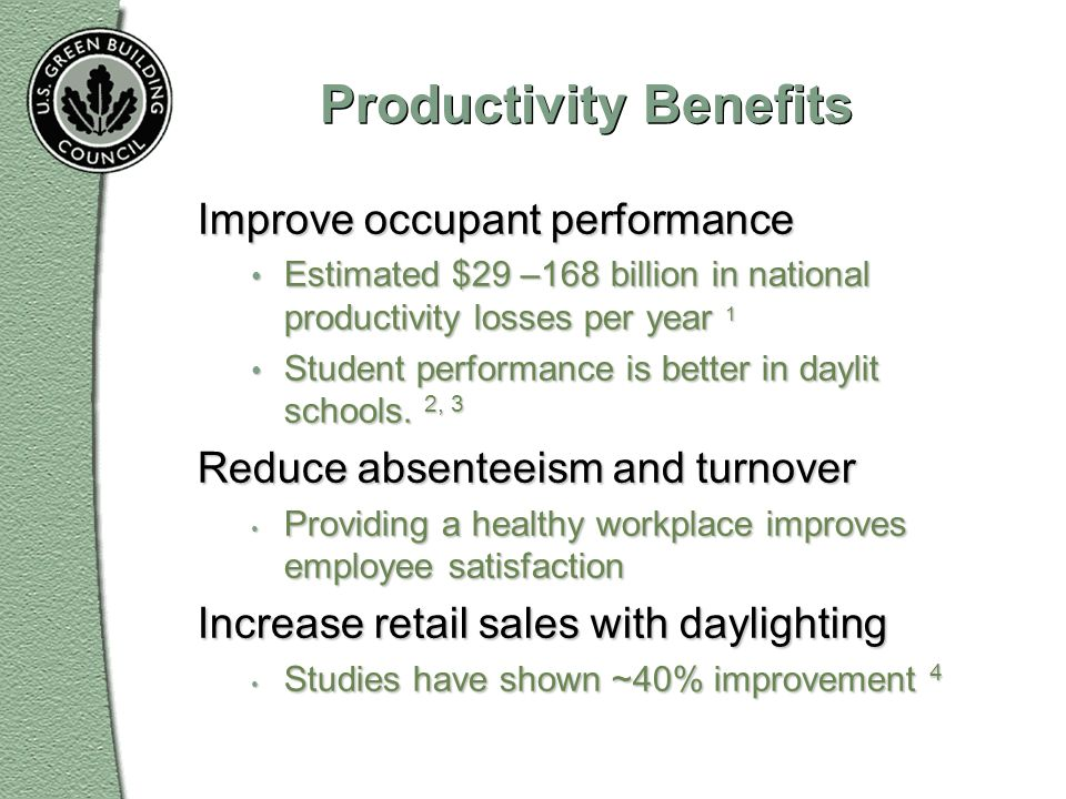 Productivity Benefits