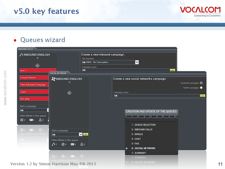 v5.0 key features Queues wizard ----- Presentation Notes -----