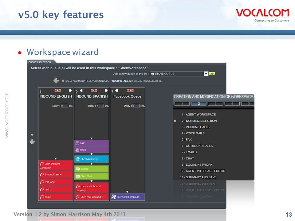 v5.0 key features Workspace wizard ----- Presentation Notes -----