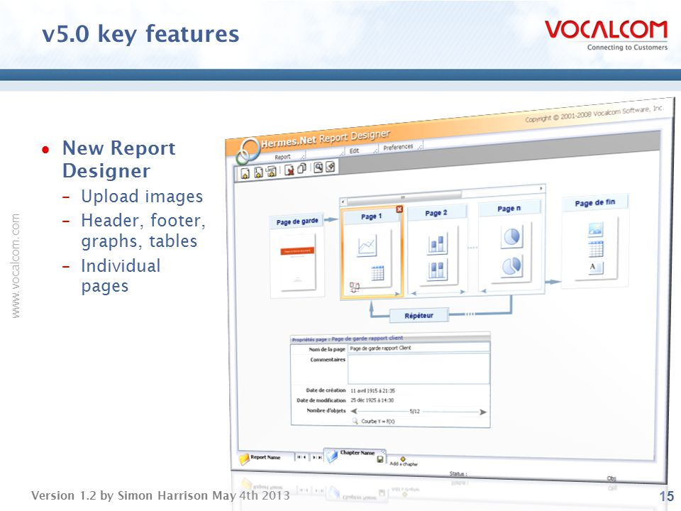 v5.0 key features New Report Designer Upload images