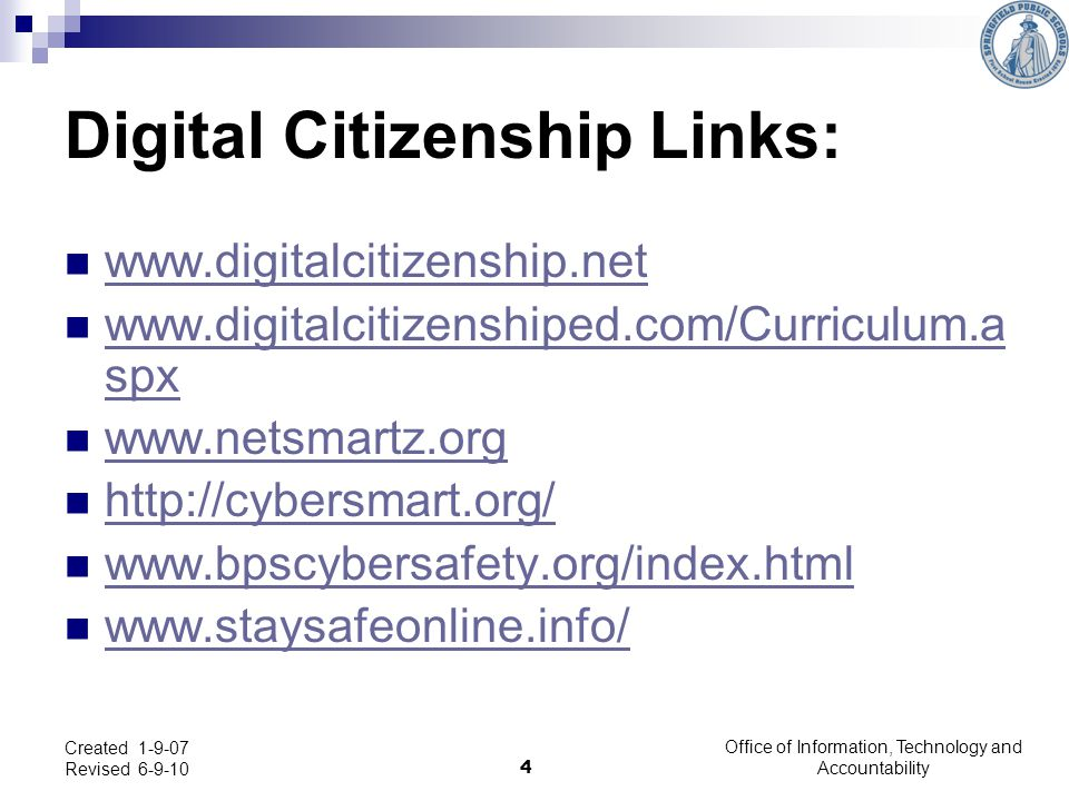 Digital Citizenship Links: