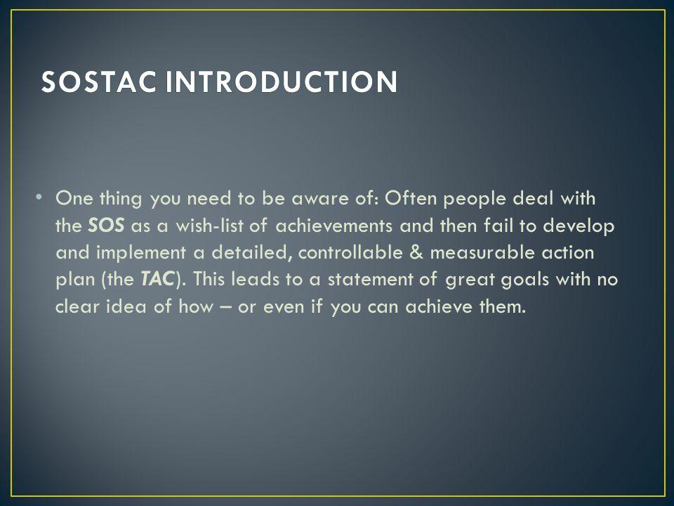SOSTAC INTRODUCTION