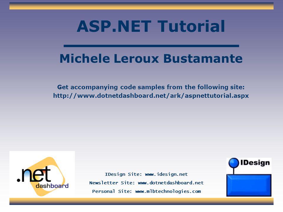 ASP.NET Tutorial Michele Leroux Bustamante