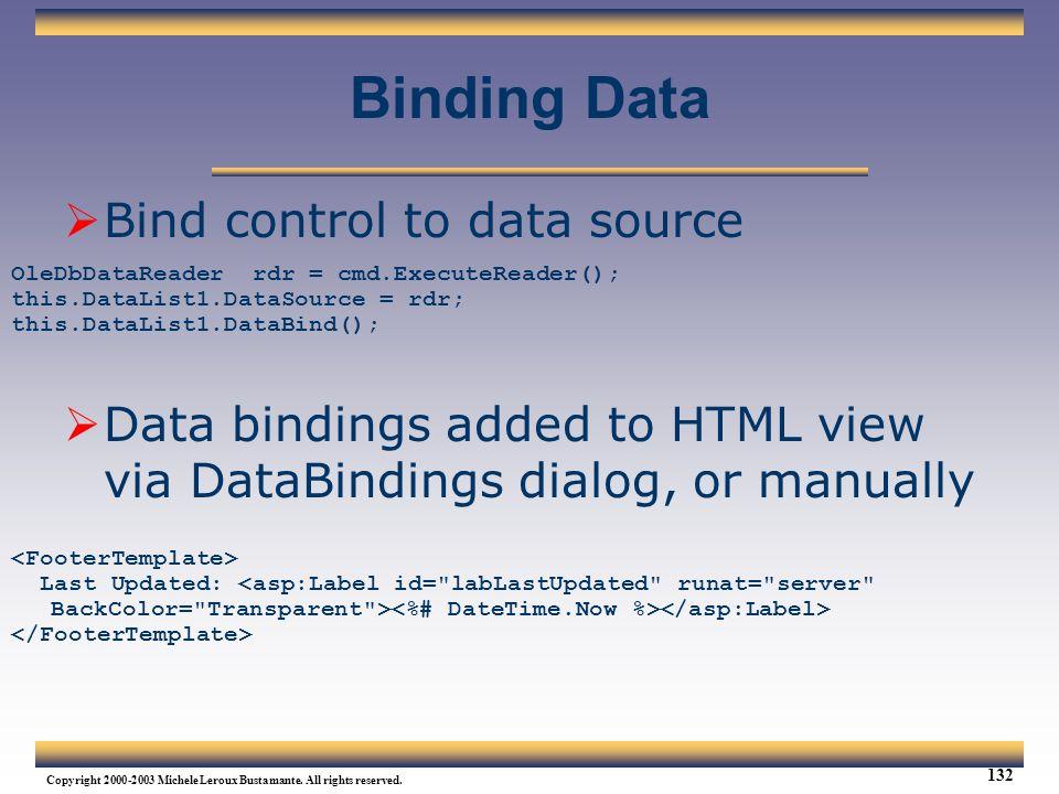 Binding Data Bind control to data source