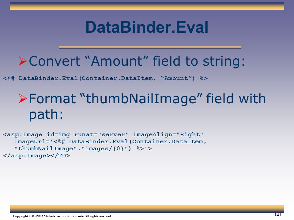 DataBinder.Eval Convert Amount field to string: