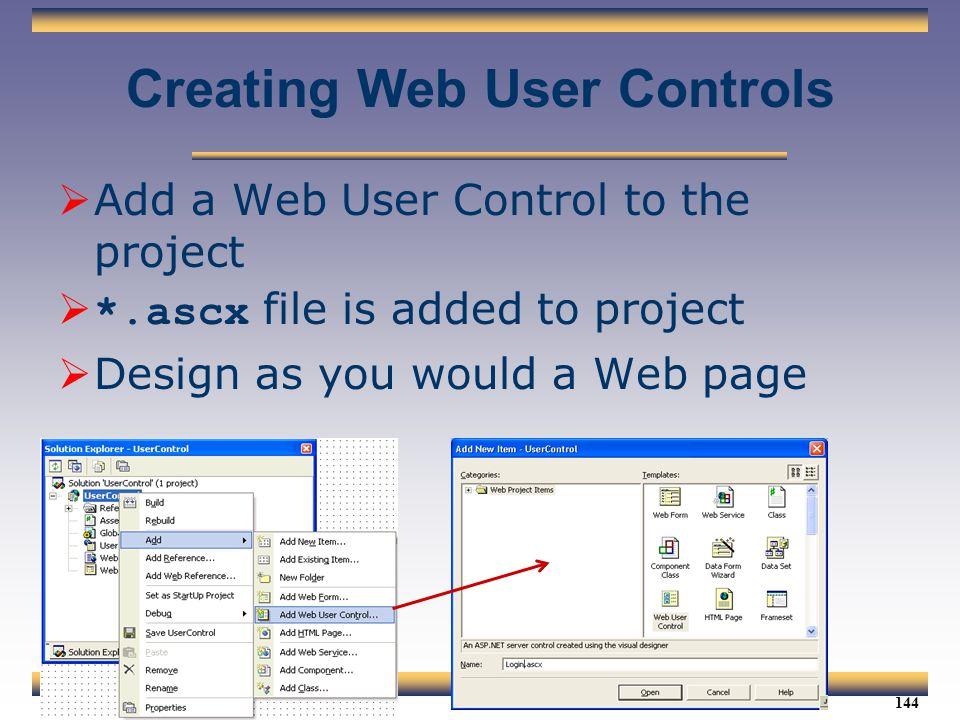 Creating Web User Controls