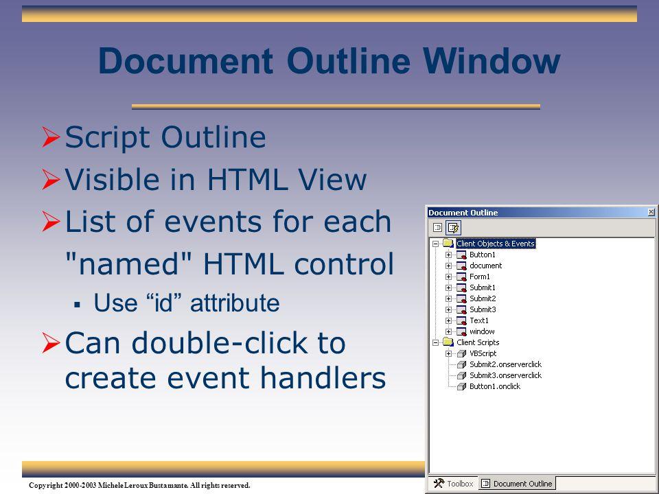 Document Outline Window