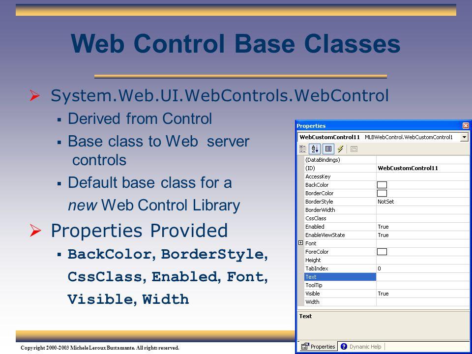 Web Control Base Classes