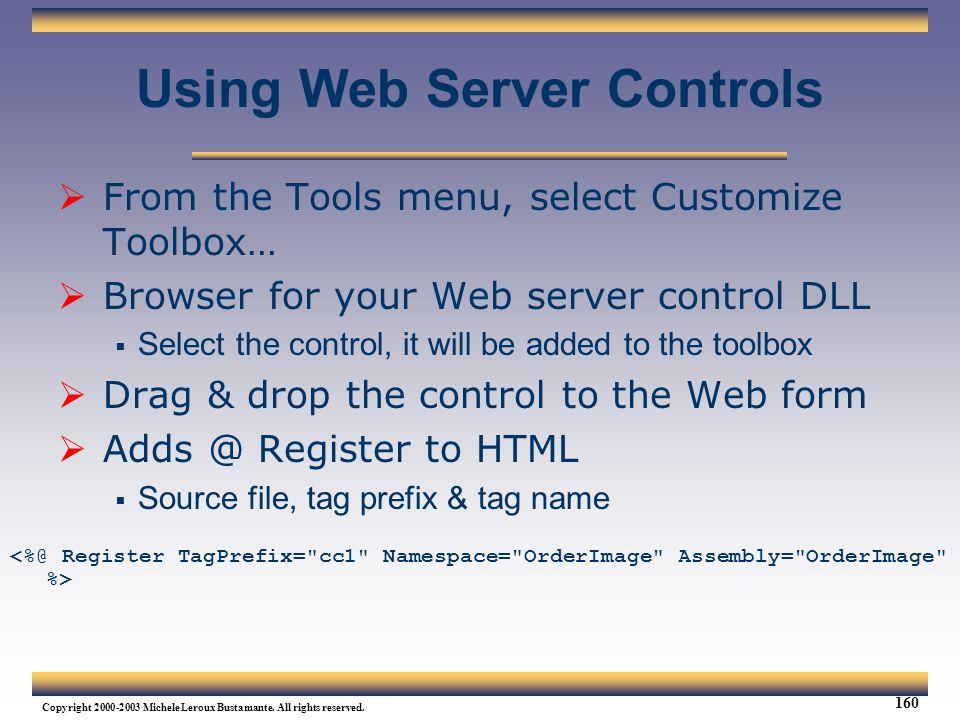 Using Web Server Controls