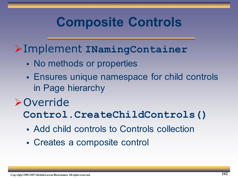 Composite Controls Implement INamingContainer