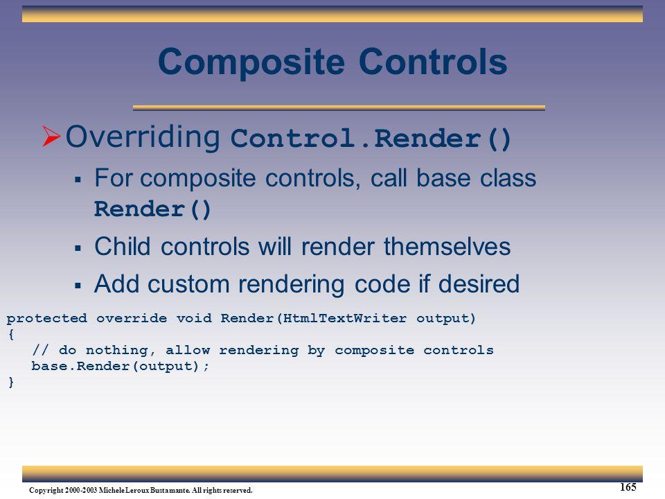 Composite Controls Overriding Control.Render()