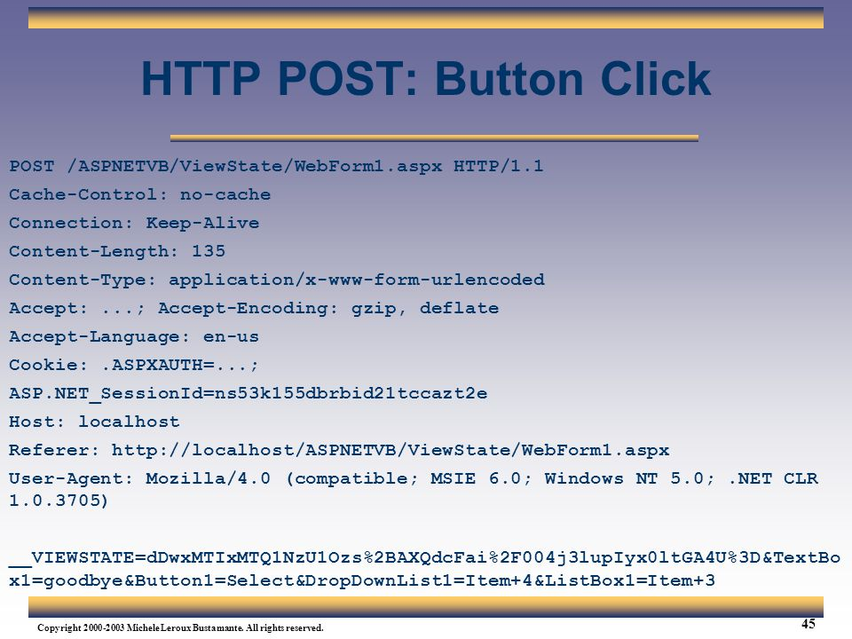HTTP POST: Button Click