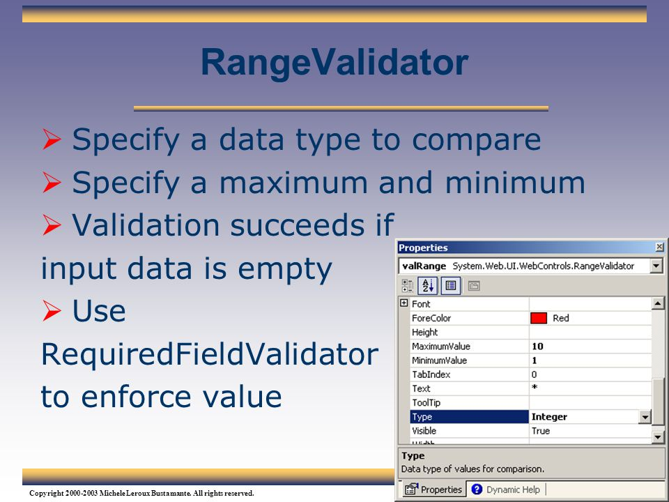 RangeValidator Specify a data type to compare