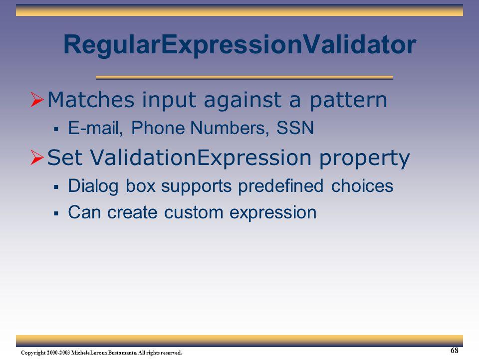 RegularExpressionValidator