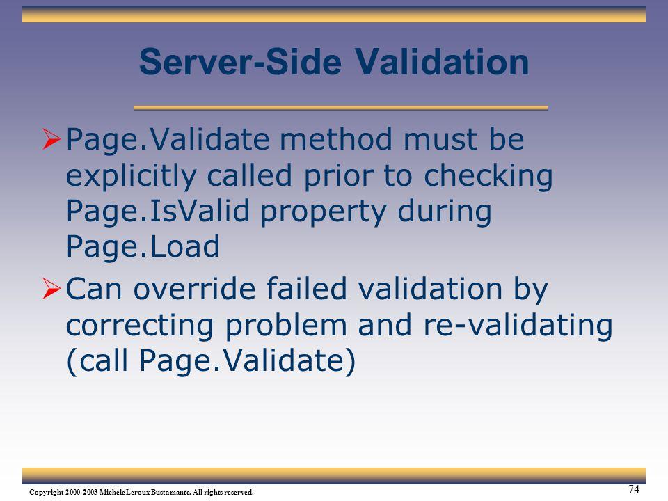 Server-Side Validation
