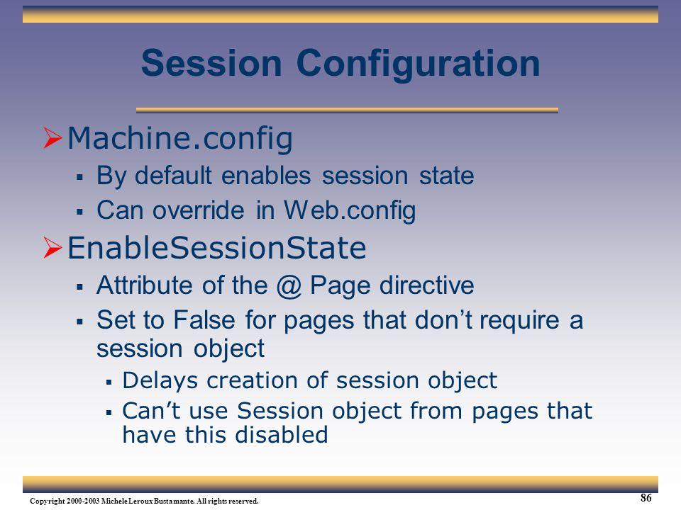 Session Configuration