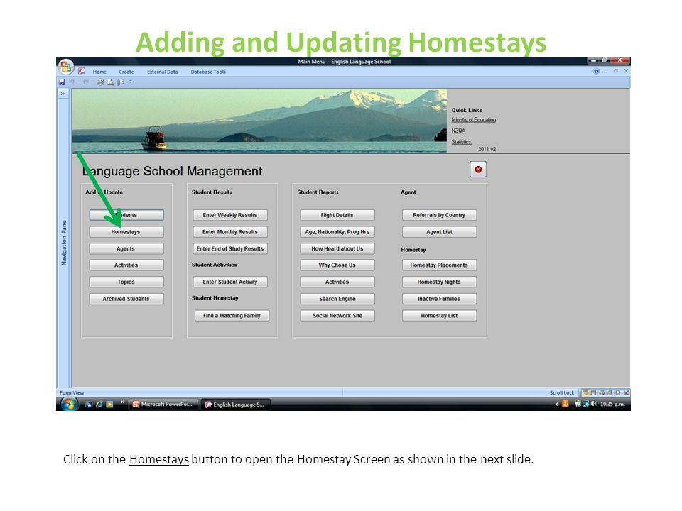 Adding and Updating Homestays