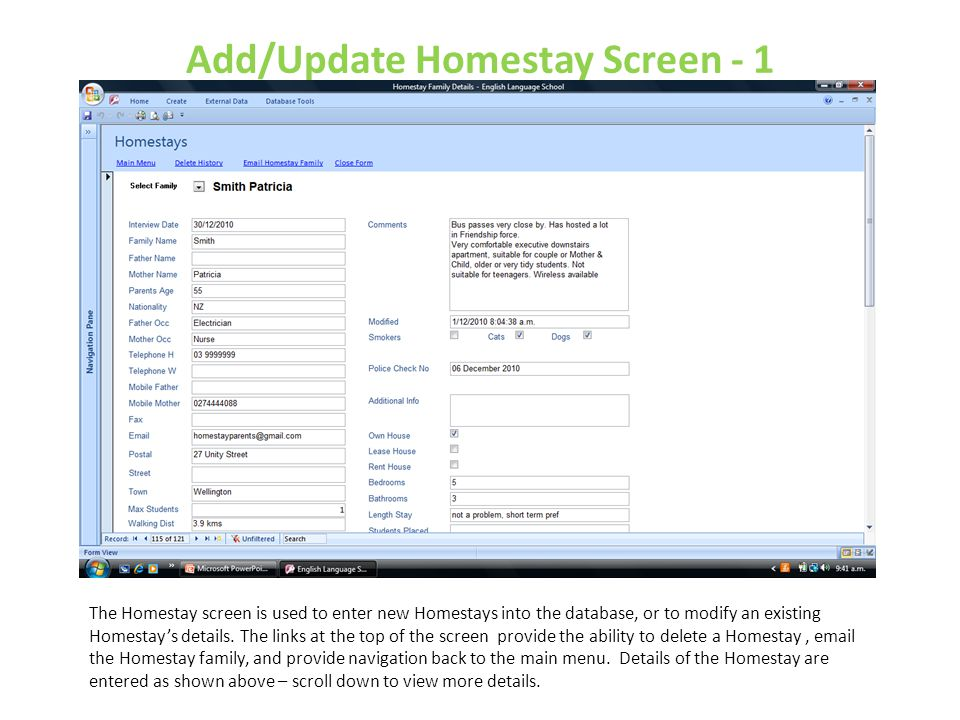 Add/Update Homestay Screen - 1