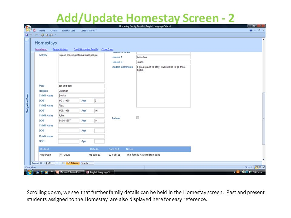 Add/Update Homestay Screen - 2
