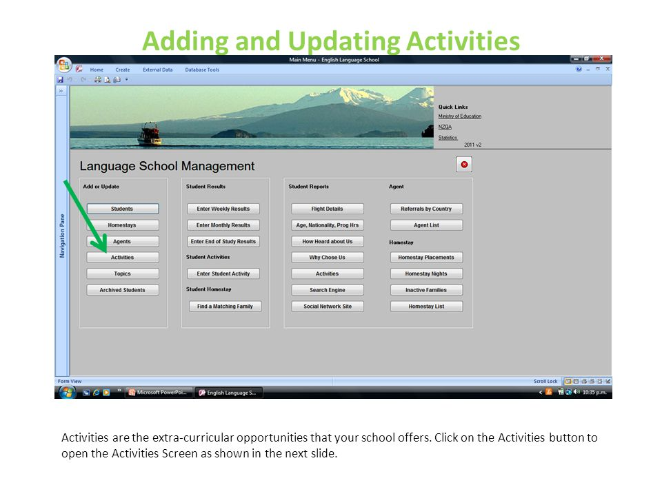 Adding and Updating Activities