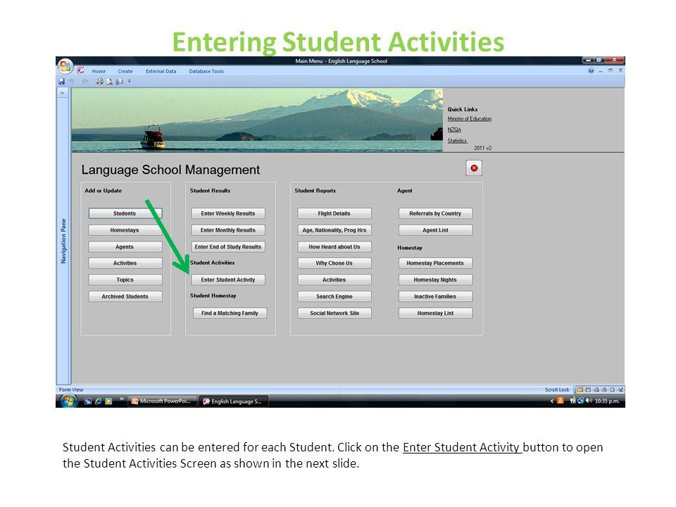Entering Student Activities