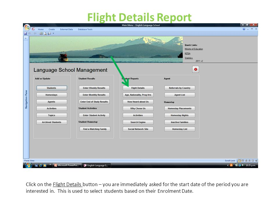 Flight Details Report