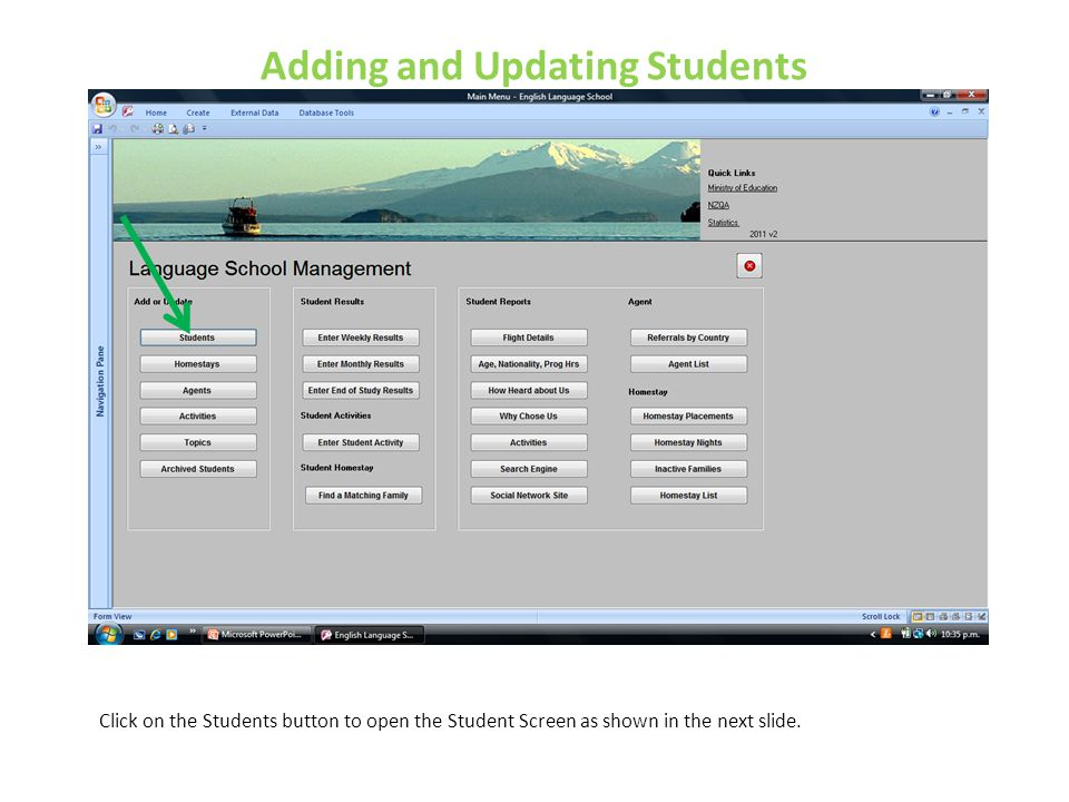 Adding and Updating Students