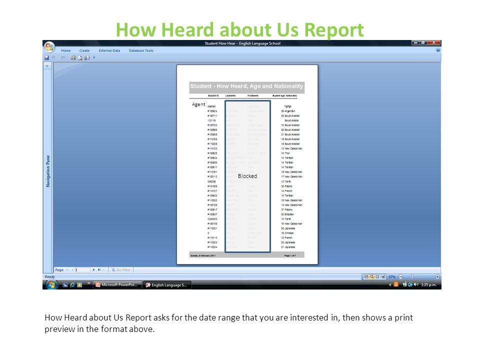 How Heard about Us Report