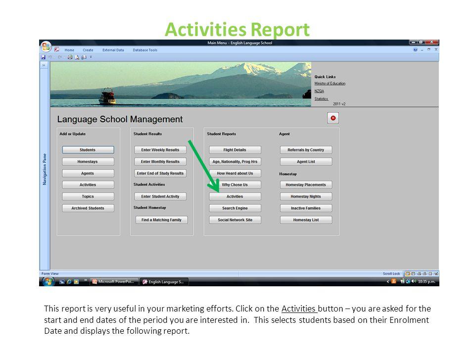 Activities Report
