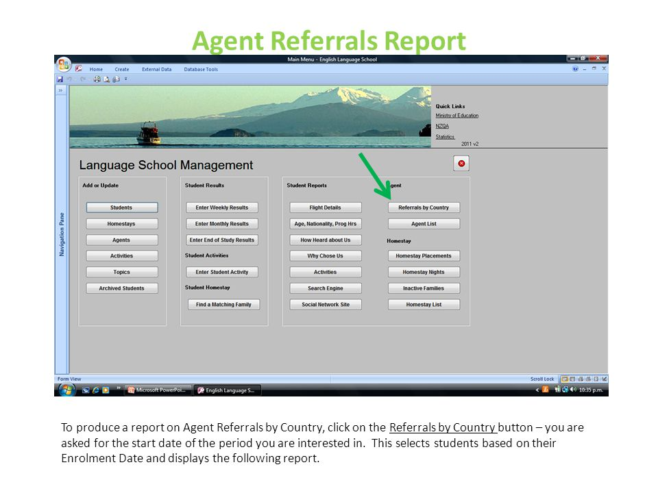 Agent Referrals Report