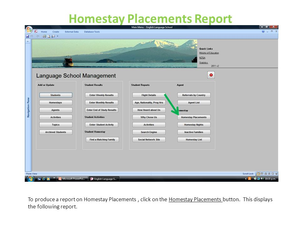 Homestay Placements Report