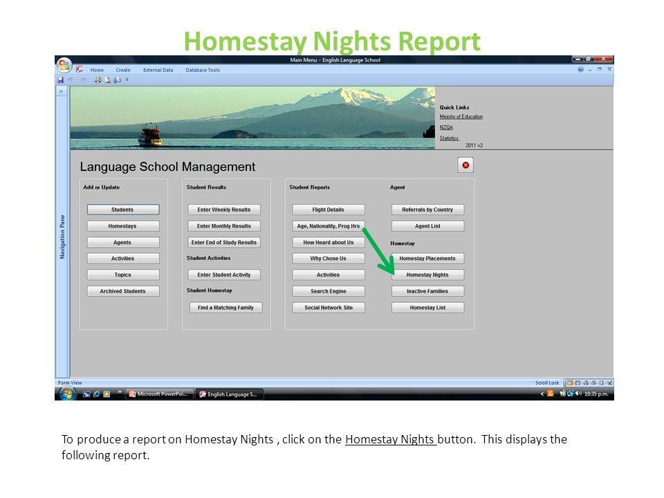 Homestay Nights Report