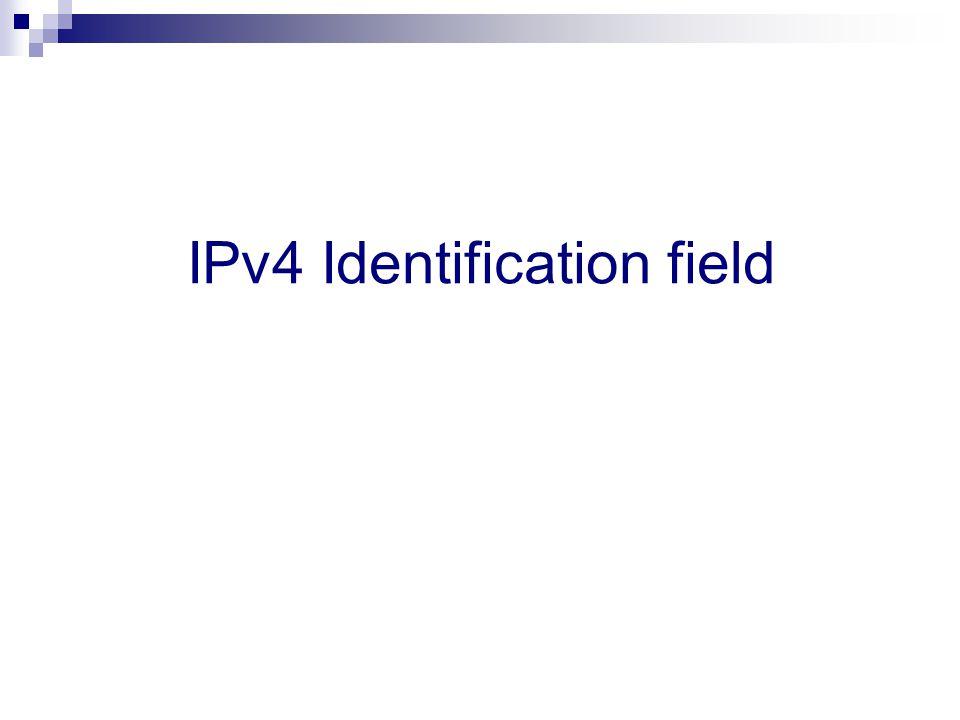 IPv4 Identification field