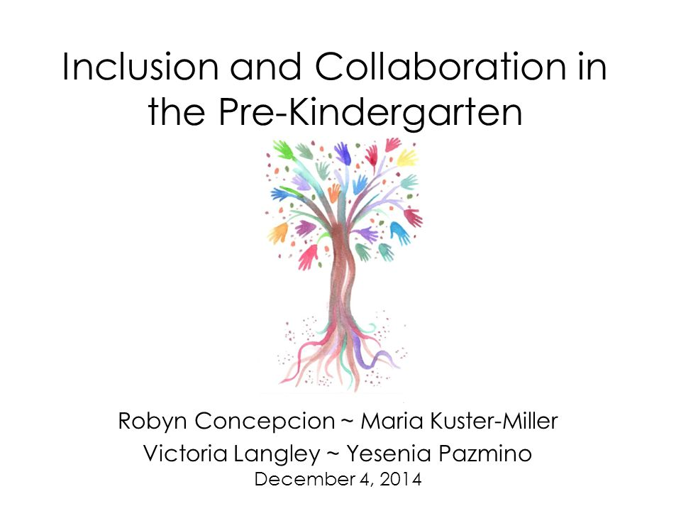 Inclusion and Collaboration in the Pre-Kindergarten