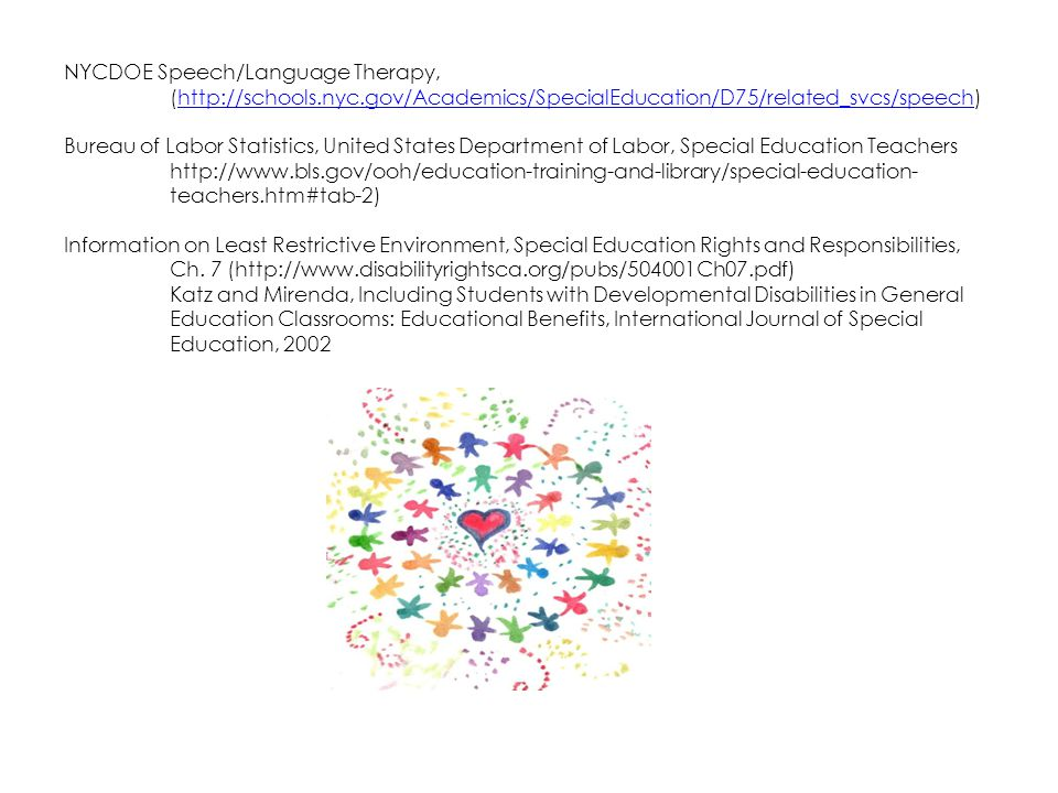 NYCDOE Speech/Language Therapy,. (http://schools. nyc