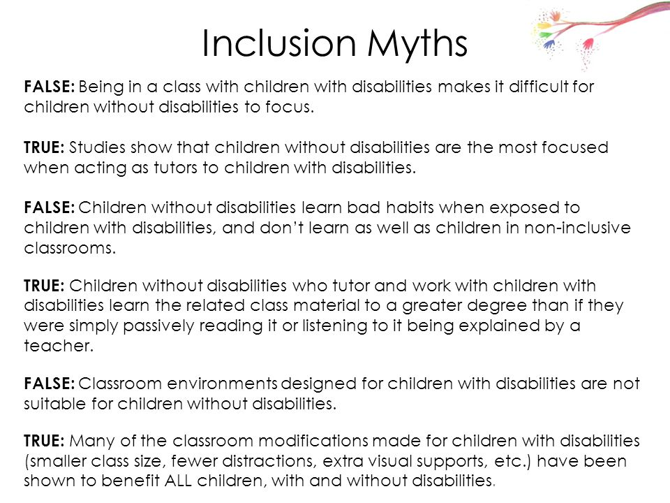 Inclusion Myths