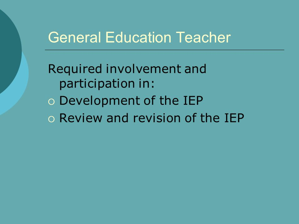 General Education Teacher