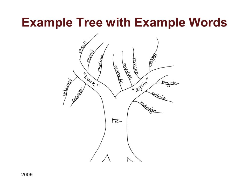 Example Tree with Example Words
